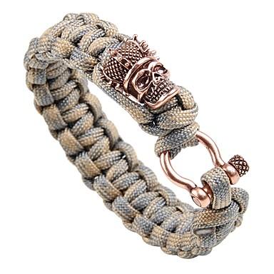 voordelige Herensieraden-Heren loom Bracelet Gevlochten Vintage Punk Rips Armband sieraden Goud / Zilver / Goud Rose Voor Straat Club