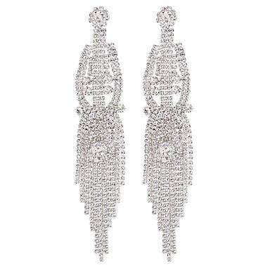 povoljno Modne naušnice-Žene Viseće naušnice Sa stilom Long dame Moda Naušnice Jewelry Pink / Duga Za Dar Dnevno 1 par