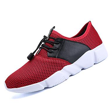 b48315d75dc Ανδρικά Παπούτσια άνεσης Δίχτυ / Ελαστικό ύφασμα Φθινόπωρο Αθλητικό  Αθλητικά Παπούτσια Τρέξιμο Φορέστε την απόδειξη Συνδυασμός Χρωμάτων Μαύρο /  Κόκκινο ...