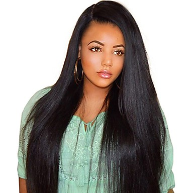 119 99 Human Hair Full Lace Wig Style Brazilian Hair Burmese Hair Straight Natural Natural Black Wig 130 Density With Baby Hair Women Easy
