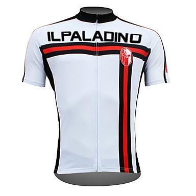 2e37e26f31c9 ILPALADINO Ανδρικά Κοντομάνικο Φανέλα ποδηλασίας - Λευκό Ποδήλατο Αθλητική  μπλούζα Μπολύζες Αναπνέει Γρήγορο Στέγνωμα Υπεριώδης Αντίσταση Αθλητισμός  100% ...
