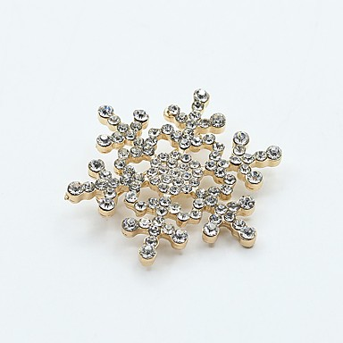 d00c28ba5 Women's Classic Brooches - Snowflake Trendy, Fashion Brooch Jewelry Gold /  Silver For Street / Festival 6923697 2019 – $3.99