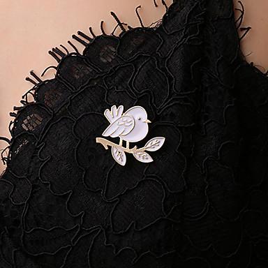 levne Dámské šperky-Dámské Brože Stylové Ptáček dámy Jednoduchý korejština Sladký Cute Style Brož Šperky Bílá Pro Párty Denní Plesová maškaráda