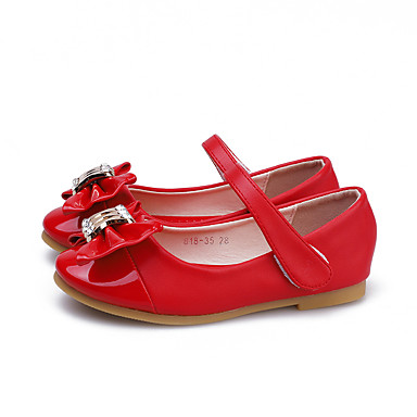 74f02379b58 Girls  Shoes Patent Leather Spring   Fall Flower Girl Shoes Flats Bowknot    Magic Tape for Kids Red   Pink   Party   Evening 6909684 2019 –  19.99
