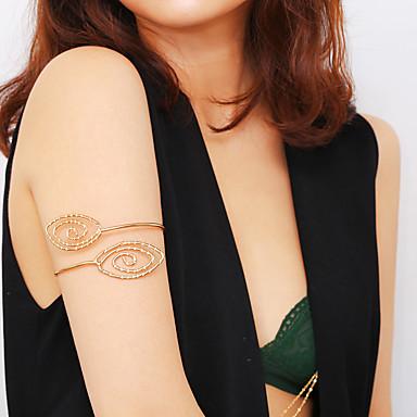 levne Dámské šperky-Dámské Tělové ozdoby 10 cm Arm Chain Zlatá / Stříbrná dámy / Cikánské / Tropický vzhled Žehlička Kostýmní šperky Pro Klub / Bikini Letní