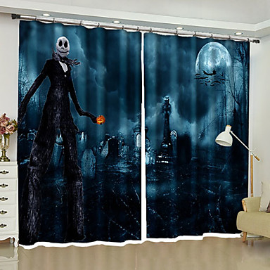 Blackout Curtains Two Panels 2 W110cmxl180cm Dark Blue Bedroom 6919532 2019 62 39