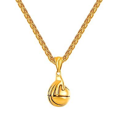 levne Pánské šperky-Pánské Náhrdelníky s přívěšky Zásobník Koule Casual / Sportovní Módní Nerez Zlatá Stříbrná 55 cm Náhrdelníky Šperky 1ks Pro Dar Street