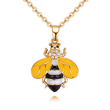 levne Dámské šperky-Dámské Přívěsky Stylové Dlouhé Včela dámy Visací Sladký Štras Brož Šperky Zlatá Bílá Pro Denní Dovolená