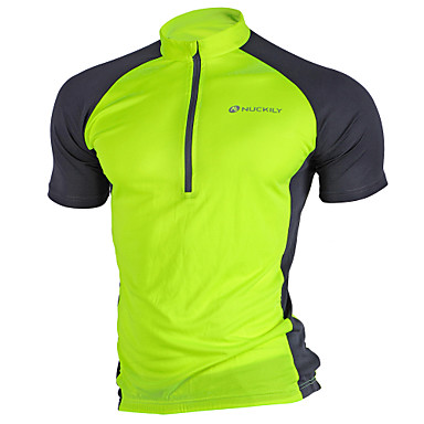 Nuckily Men s Short Sleeve Cycling Jersey - Pink Grey Light Green Bike  Jersey Top Breathable Quick Dry Ultraviolet Resistant Sports Polyester  Mountain Bike ... c8f201562