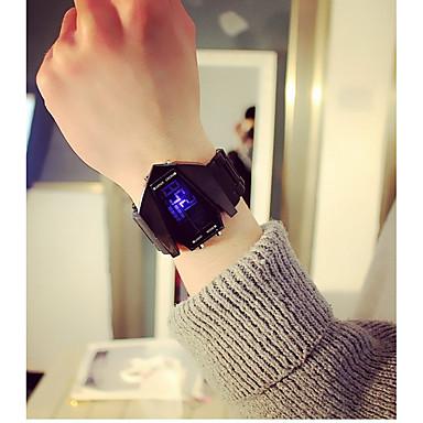 levne Dámské-Pánské Pro páry Sportovní hodinky Digitální hodinky Digitální Černá / Bílá Kalendář Svítící Hodinky na běžné nošení Digitální Na běžné nošení Módní - Bílá Černá