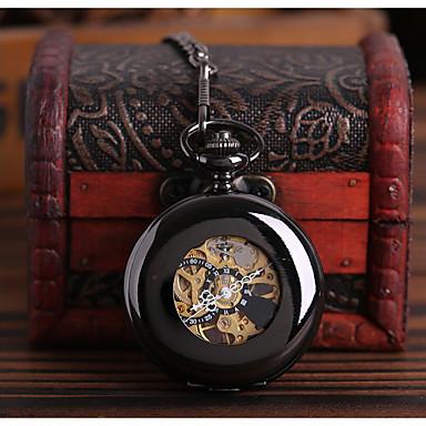 levne Pánské-Pánské Hodinky s lebkou Kapesní hodinky Automatické natahování Černá S dutým gravírováním Hodinky na běžné nošení Czaszka Analogové Czaszka Módní Steampunk - Černá