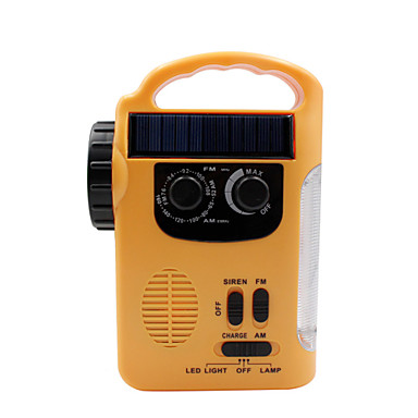 cheap Radio-RD339 Portable Radio MP3 Player / Solar Power / FlashLight World Receiver Yellow