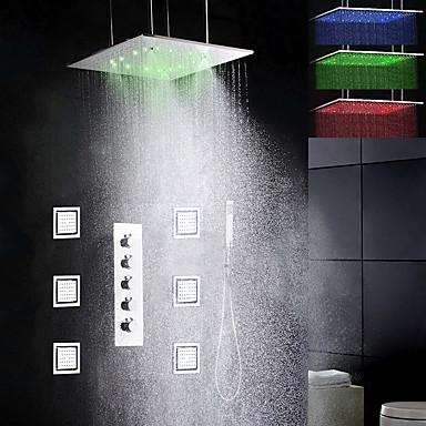 Duschkran - Nutida Krom Keramisk Ventil Bath Shower Mixer Taps / Mässing