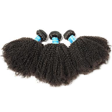 povoljno Ekstenzije od ljudske kose-3 paketa Brazilska kosa afro Virgin kosa Remy kosa Ljudske kose plete 8-26 inch Natural Isprepliće ljudske kose Najbolja kvaliteta 100% Djevica Proširenja ljudske kose / 10A