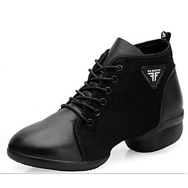 ed0bf11d66647 نسائي أحذية عصرية Leather نابا سينكرز كعب كوبي أحذية الرقص أسود   أداء    تمرين 6924473 2019 –  54.99