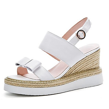 2b7c10c8d66d Women s Comfort Shoes Nappa Leather Summer Sandals Wedge Heel Black   Yellow    Pink 6940847 2019 –  49.99