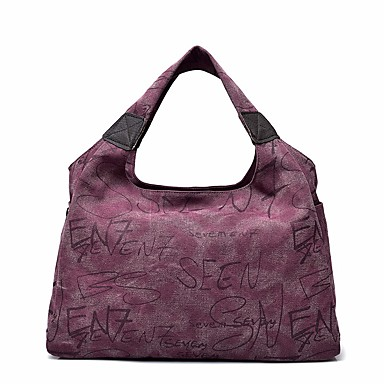 f6c1bfb8e1 Women s Bags Canvas Shoulder Bag Pattern   Print Letter Gray   Coffee    Wine 6922582 2019 –  22.99