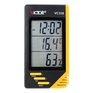 levne Testovací, měřící a kontrolní vybavení-victor vc330 domácí digitální přenosný teploměr a vlhkoměr s hodinami a kalendářem
