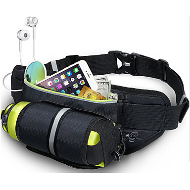 cheap Running Bags-Running Belt Fanny Pack Waist Bag / Waist pack for Running Marathon Fishing Hiking Sports Bag Lightweight Breathability Wearable Nylon Running Bag Adults'