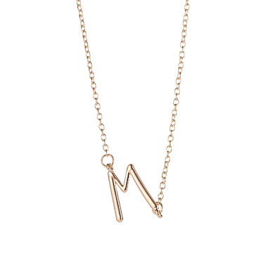Women s Stylish Long Name Pendant Necklace Long Necklace Alphabet Shape  Creative Ladies Simple Trendy Cool Gold Silver 50+5 cm Necklace Jewelry 1pc  For ... e0644b3fa7