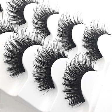 cheap Makeup & Skin Care-Eyelash Extensions 10 pcs Thick Multi-tool Pro Natural Curly Fiber Practise Daily Wear Full Strip Lashes Thick - Makeup Daily Makeup Glamorous & Dramatic High Quality Cosmetic Grooming Supplies