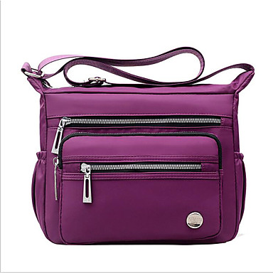 cheap Bags-Women's Bags PU Leather / Nylon Shoulder Messenger Bag Zipper for Outdoor Black / Blue / Purple