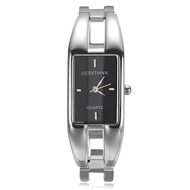 cheap Square & Rectangular Watches-Women's Fashion Watch Bracelet Watch Square Watch Quartz Ladies Silver Analog - White Black Red One Year Battery Life / SSUO AG4