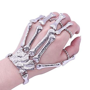 Women S Vintage Style Ring Bracelet Slave Skull Statement Trendy Silver For Gift 6926117 2018 10 99