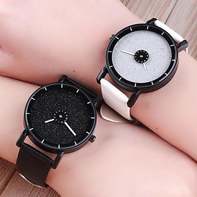 levne Pánské-Pánské Dámské Luxusní hodinky Náramkové hodinky Diamond Watch Křemenný Z umělé kůže Černá / Bílá / Modrá kreativita Hodinky na běžné nošení Analogové Módní Barevná - Modrá Světle modrá Černá / Bílá