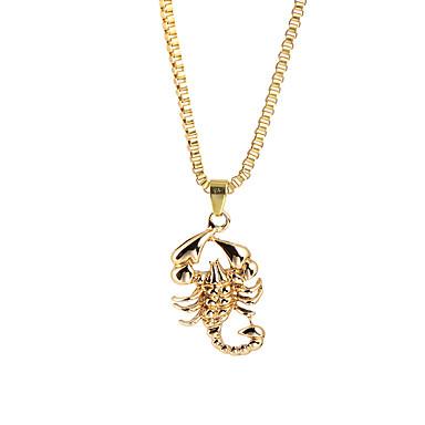 levne Pánské šperky-Pánské Náhrdelníky s přívěšky Prohlášení Náhrdelníky Klasika Stylové Zvěrokruh Štír Rokové Nadsázka Hip-hop Satanský Slitina Zlatá 66 cm Náhrdelníky Šperky 1ks Pro Karneval Street