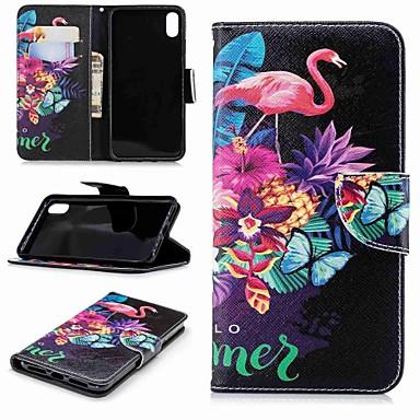 povoljno iPhone maske-Θήκη Za Apple iPhone XS / iPhone XR / iPhone XS Max Novčanik / Utor za kartice / sa stalkom Korice Flamingo / Životinja Tvrdo PU koža