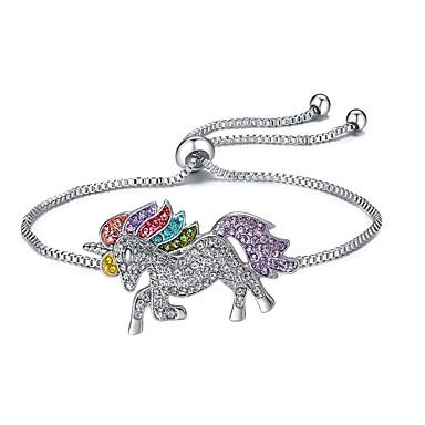 levne Dámské šperky-Dámské Náramky s přívěšky Klasika Dláždit Kůň Unicorn dámy Luxus Animák Štras Náramek šperky Stříbrná Pro Halloween Dar