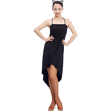 Baile Latino Vestidos Mujer Entrenamiento Modal Fruncido Sin Mangas Cintura  Media Vestido 6974098 2018 –  34.99 163729cf8160