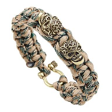 voordelige Herensieraden-Heren loom Bracelet Gevlochten Schedel Vintage Punk Rips Armband sieraden Goud / Zilver / Goud Rose Voor Straat Club