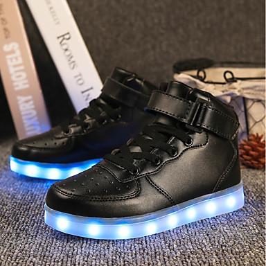 preiswerte Schuhe für Kinder-Jungen Leuchtende LED-Schuhe PU Sneakers Kleine Kinder (4-7 Jahre) / Große Kinder (ab 7 Jahren) LED Weiß / Schwarz / Rot Herbst / Gummi