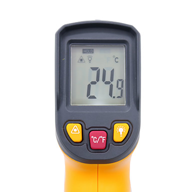 levne Testovací, měřící a kontrolní vybavení-digitální infračervený teploměr -50 - 400 stupňů bezdotykového infračerveného laserového teploměru hy45