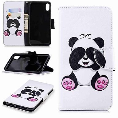 povoljno iPhone maske-Θήκη Za Apple iPhone XS / iPhone XR / iPhone XS Max Novčanik / Utor za kartice / sa stalkom Korice Panda Tvrdo PU koža