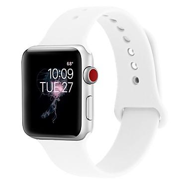 levne Pánské-Silica gel Watch kapela Popruh pro Apple Watch Series 4/3/2/1 Černá / Bílá / Modrá 23cm / 9 palce 2.1cm / 0.83 palce