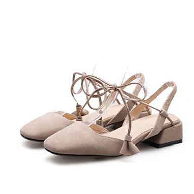 d81dc43f0ea2 Women s Strappy Stacked Heels Suede Summer Sweet Clogs   Mules Low Heel  Gray   Pink   Almond 6932068 2019 –  44.99