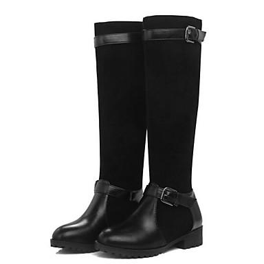 1859a894905 Women s Fashion Boots PU(Polyurethane) Winter Boots Chunky Heel Mid-Calf  Boots Black   Light Brown   Royal Blue 6937028 2019 –  29.99