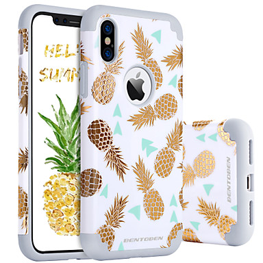 low priced 52e25 53042 [$7.99] BENTOBEN Case For Apple iPhone X / iPhone XS Shockproof / Pattern  Back Cover Food / Fruit Hard PC / Silica Gel for iPhone XS / iPhone X
