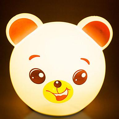 1pc Luz de noche LED Pilas AA alimentadas Dibujos animados / Color ...
