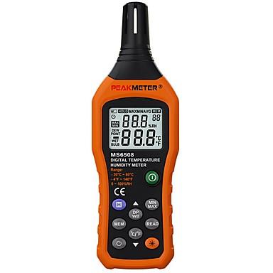 voordelige Test-, meet- & inspectieapparatuur-peakmeter ms6508 digitale temperatuurvochtigheid hygrometer thermometer weerstation