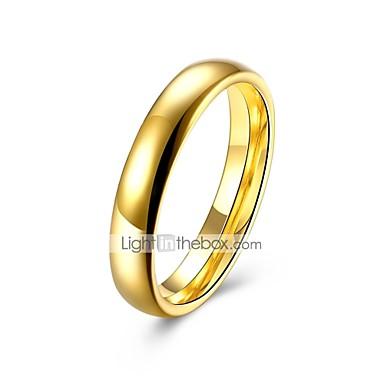 billige Motering-Dame Band Ring 1pc Gull Titanium Stål Sirkelformet Geometrisk Form damer Klassisk Grunnleggende Bryllup Daglig Smykker Klassisk Elegant Kreativ Kul