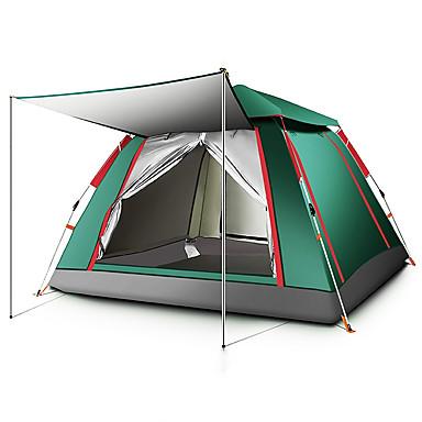 preiswerte Zelte & Unterkünfte-TANXIANZHE® 5 Personen Automatisches Zelt Außen Windundurchlässig UV-beständig Regendicht Eine Schicht Automatisch Camping Zelt 2000-3000 mm für Angeln Strand Camping / Wandern / Erkundungen Oxford