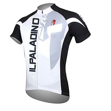ILPALADINO Men s Short Sleeve Cycling Jersey - White Bike Jersey Top Breathable  Quick Dry Ultraviolet Resistant Sports Polyester 100% Polyester Mountain ... b1e5b5944