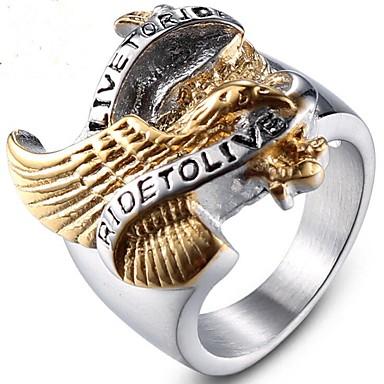 levne Pánské šperky-Pánské Midi Ring 1ks Zlatá Titanová ocel Geometric Shape Punk Svatební Párty Šperky Retro styl Cool
