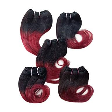 povoljno Ekstenzije od ljudske kose-4 paketića Malezijska kosa Ravan kroj 100% Remy kose tkanja Bundle tkati 8 inch Isprepliće ljudske kose Jednostavan Proširenja ljudske kose / 10A