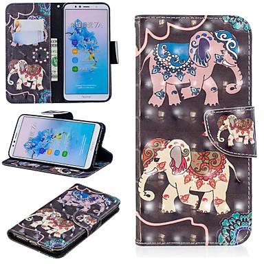 Θήκη Za Huawei Huawei Nova 3i / Huawei P Smart Plus / Honor 7A Novčanik / Utor za kartice / sa stalkom Korice Slon Tvrdo PU koža