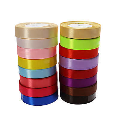 cheap Gifts & Decorations-Solid Colored Satin Wedding Ribbons Piece/Set Satin Ribbon Decorate favor holder / Decorate gift box